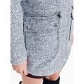 Top Secret Kabát dámský šedý s oddělávací kožíškovou kapucí (837782) - 4