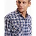 Top Secret Košile pánská kostkovaná s dlouhým rukávem (490762) - 4