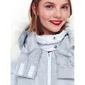 Top Secret Bunda dámská dlouhá šedá s kožíškovou kapucí (820825) - 5