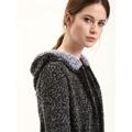 Top Secret Kabát dámský šedý s kapucí a páskem (327269) - 4