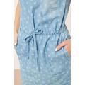 Moodo šaty dámské jeans s krátkým rukávem (410041) - 3