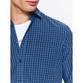 Top Secret Košile pánská modrá kostičkovaná s dlouhým rukávem (563043) - 4