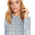 Top Secret Košile dámská bílá s černým vzorem a dlouhým rukávem (513986) - 5