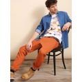Top Secret Košile pánská jeans s dlouhým rukávem (415070) - 2