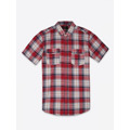 Top Secret Košile pánská červená s proužkem a krátkým rukávem (449107) - 4