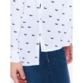 Top Secret Košile dámská bílá se vzzorem a dlouhým rukávem (536751) - 4