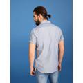 Top Secret Košile pánská modrá s puntíky a krátkým rukávem (414304) - 6