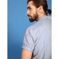 Top Secret Košile pánská modrá s puntíky a krátkým rukávem (414304) - 3