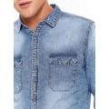 Top Secret Košile pánská jeans s dlouhým rukávem (514736) - 4